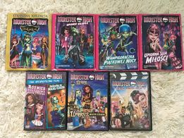 Monster High filmy dvd 7 szt.