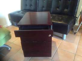 Beautiful solid dark wood desk and Credenza