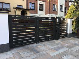 Nowoczesne ogrodzenie do samodzielnego montażu brama furtka przęsło