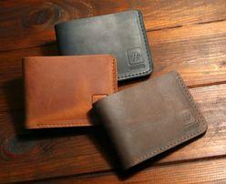 Мужской кошелек, зажим для денег, кожаный из натуральной кожи.