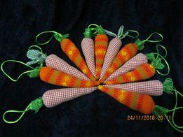 морква, ялинкові прикраси, іграшки, ручна робота, поделки