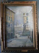 Obraz , Warszawa , akwarela sygn. J.Ortelli ? , wym. 24,5x34,5 cm.