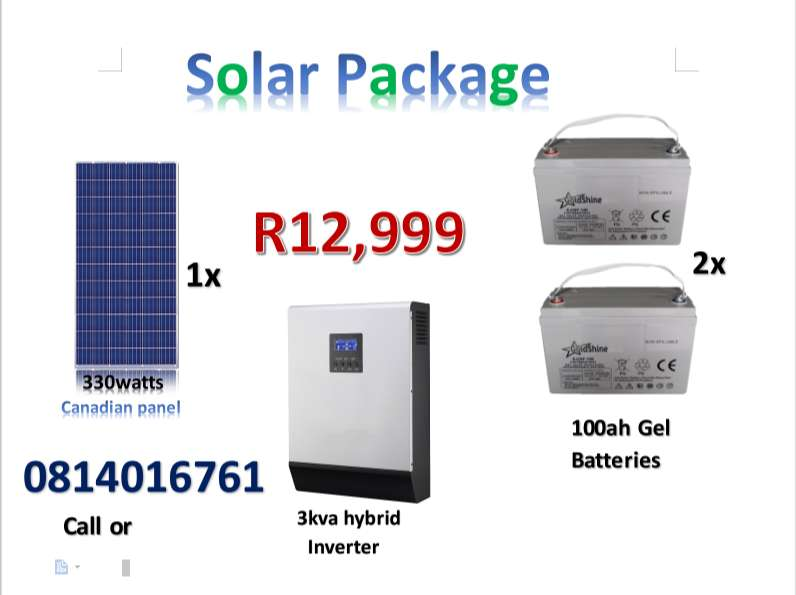 the best solar package at a very cheap price 0