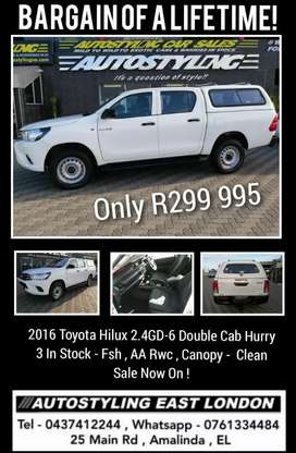 Autostyling Car Sales - East London - 2016 Hilux 2.4 - GD-6 Double Cab