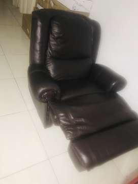 Recliner Leather Couch for sale