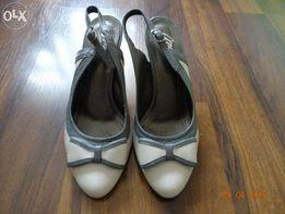 Śliczne skórzane buty r.36 jak NOWE