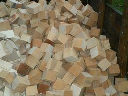Drewno kominkowe i opałowe suche klocki bukowe tona