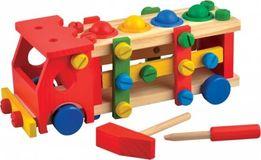 Развивающая деревянная машина конструктор стучалка 0727 +инструменты