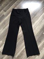 Eleganckie czarne spodnie ciążowe 40 L LewSek jak nowe szerokie