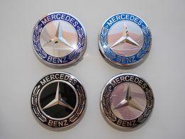 Колпачки заглушки Mercedes Мерседес 75 мм для литых дисков/на диск