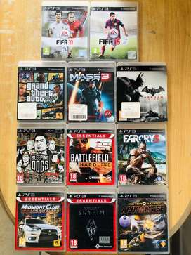 Ps 3 games assorted.