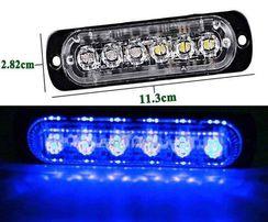 Stroboskop LED niebieski 12 - 24 V - 6 LED