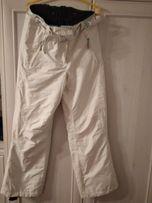 Spodnie narciarskie 36-38 białe super ciepłe