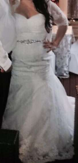 Plus Size Bridal &Co Wedding dress Undercoat and overcoat for sale
