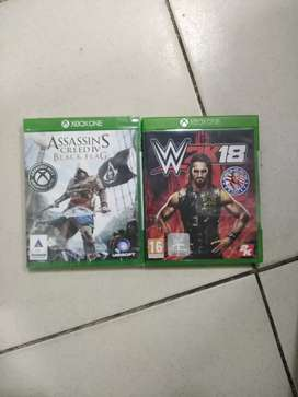Xbox one Assassins creed black flag and WWE 2K18