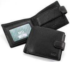 Мужской кожаный кошелек портмоне MD для стильного мужчины.