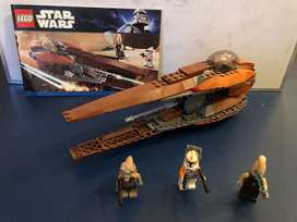 LEGO Star Wars Brown pod and 3 figures (m) 7-12y