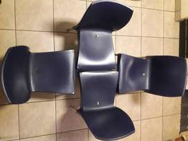 4 Solid Plastic Chairs