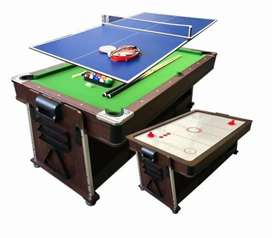 4 in 1 combo pooltable Air Hockey/table tennis and dining room table