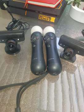 Playstation Move Controllers Plus Playstation 3 Camera