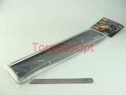 Подставка рамка под номер нержавейка ХРОМ/Черная Vitol (PH-60050)