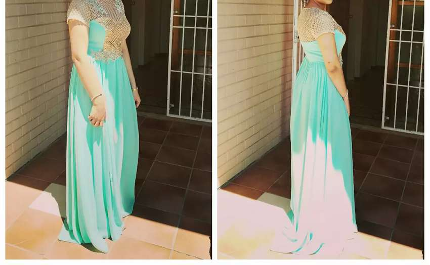 Green and gold evening wear 0