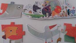 rewelacyjne puzzle DJECO Parada zwierząt