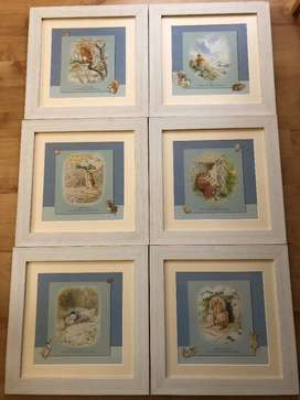 Beatrix potter/ Peter rabbit picture set