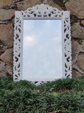Carved Wood Victorian Mirror