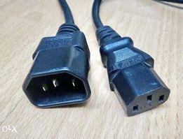 Компьютерный сетевой шнур кабель питания UPS (разъем C13-C14)