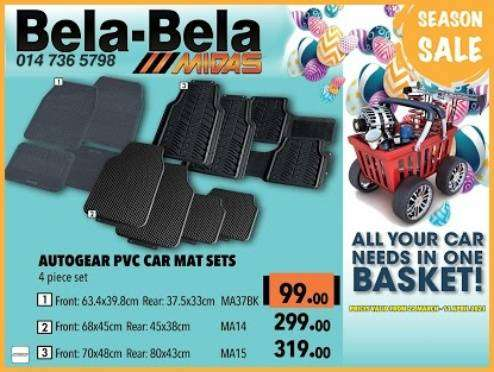 Get Autogear PVC Car Mat Sets at these low prices!