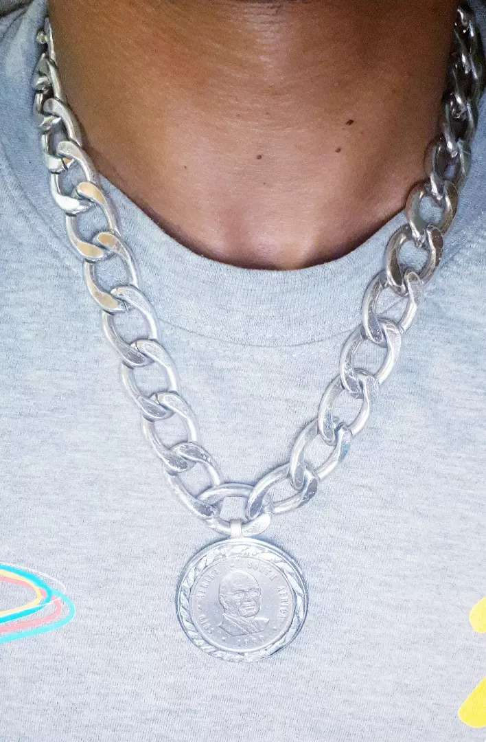 Sterling plated chain custom made pendant