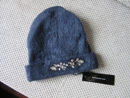 Nowa Granatowa czapka Mohito Granat kryształki diamenty