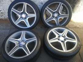 A set of Mercedes Benz AMG mags and tyres18inch