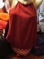 блуза блузка топ золотое на шею хомут 46-48 майка стильная бордовая