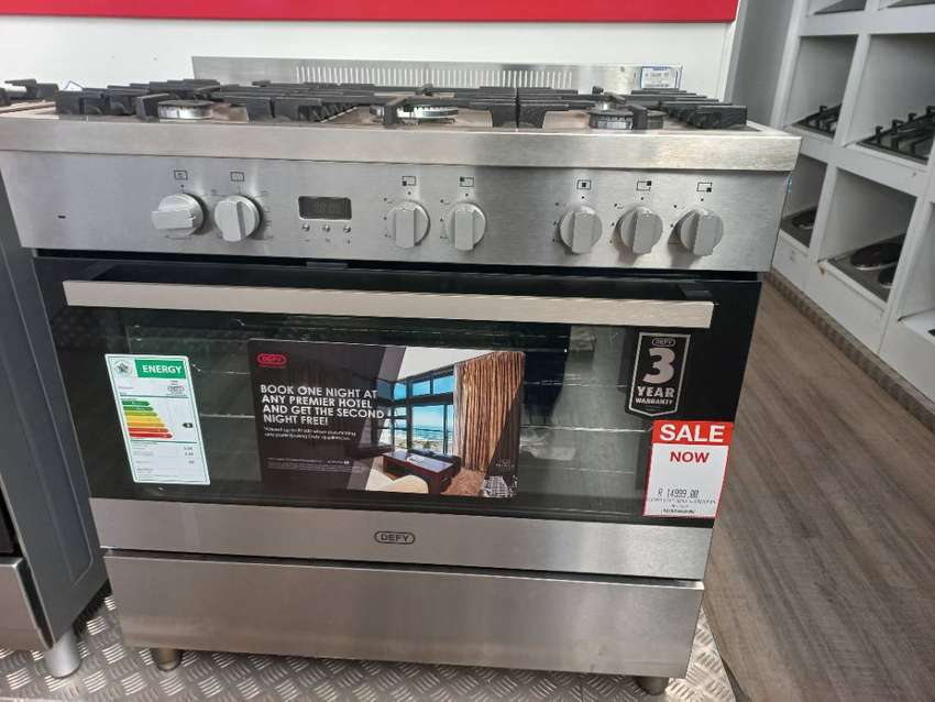 DGS906 DEFY 5BURNER THERMO FAN GAS STOVE