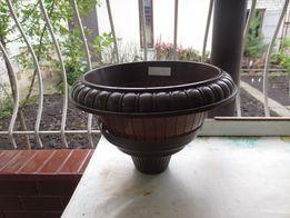 Імпортний пластиковий вазон для кімнатних рослин