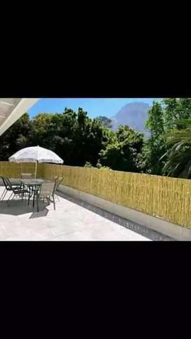 Wooden and bamboo fences