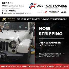 Now Breaking Jeep Wrangler JK 3.6 Automatic for spare parts!