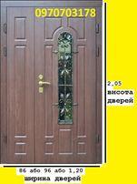 7460 дверь входная в дом широкая с ковкой двері вхідні з ковкою