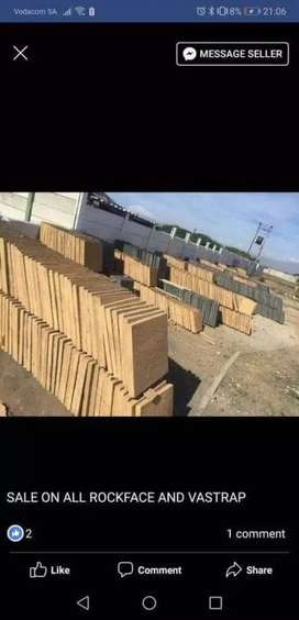 ROCKFACE PAVING SLABS SUPPLY AND FIT