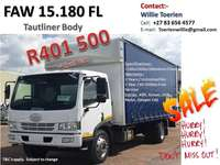 Image of FAW 15.180 FL -8ton Tautliner
