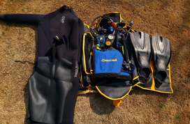2x full scuba dive kit with custom carry bags