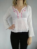 Biała bluzka damska Boho Vintage