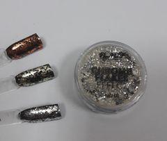NeoNail Chrome Flakes Effect 01 srebro płatki srebro
