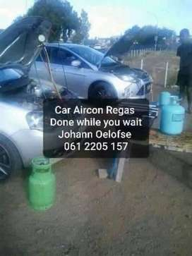 Car Aircon regassing Done while you wait