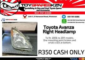 Toyota Avanza Right Headlamp