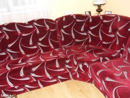 narożnik, 2 fotele i 2 pufy