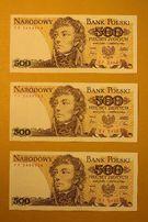 !SUPER BANKNOT 500 zł Tadeusz Kościuszko 1982 r banknoty PRL FN F UNC