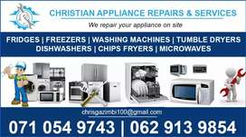 Appliance repairs and services on site